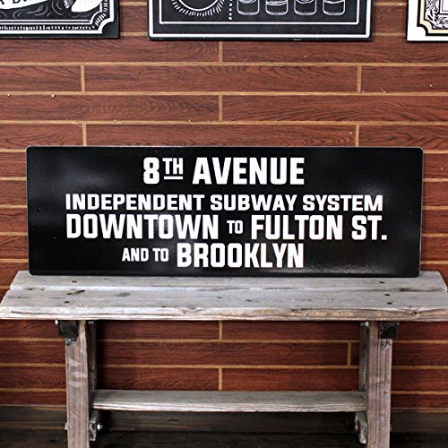NEW YORK サブウェイサイン(L) 「Vintage -8th Av」 SW-7-L /ニューヨークの地下鉄看板/ストリートサイン/アメリカン雑貨/ B01D12FUO4 21384