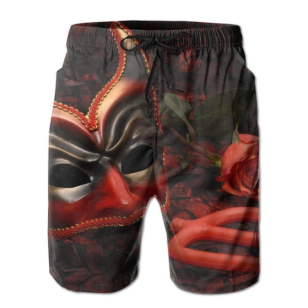 Titan's Mother Red Devil Sunshine Cool Men's Boardshorts Quick Dry Pocket Swimming Trunks