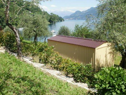 Caseta de chapa galvanizada, con estructura de acero galvanizado, de tamaño en metros 5, 07 x 2, 60 x 2, 11 (altura), con puerta de dos batientes, mod. SAPILBOX: Amazon.es: Jardín