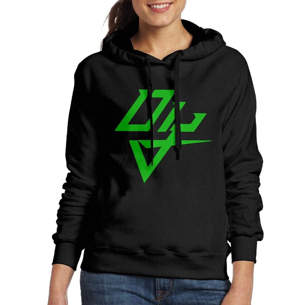 Erin Forman Womens Popular Celebrity Hooded Sweater Daddy Yankee Logo Black XXL