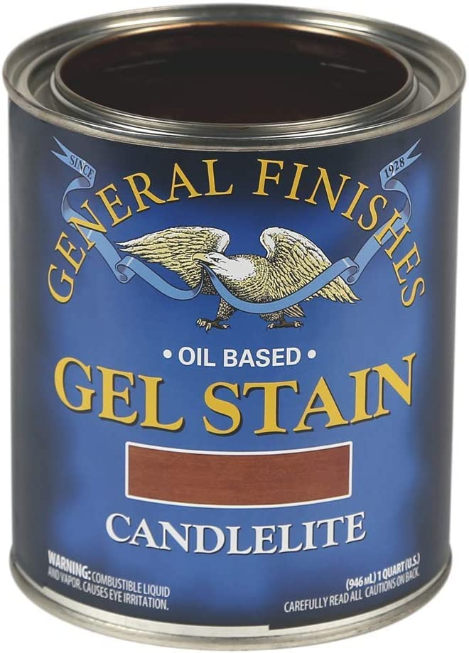 General Finishes Oil Base Gel Stain, 1 Quart, Candlelite