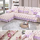 XH@G Home Decoration Pastoral fabric anti - slippery lace quilting Sofa cover Backrest Towel armrest , 3 , 97180