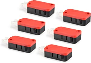 APIELE (6 Pcs) API-16-1C25 Micro Limit Switch Snap Button Type Momentary Push Button SPDT Snap Action for Arduino, Appliance and Electronic Equipment