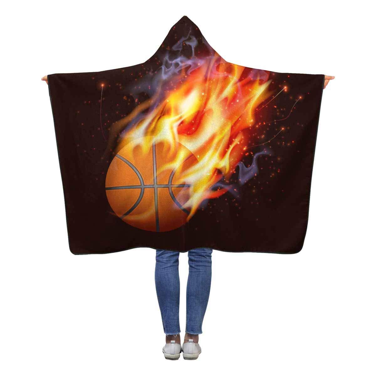 InterestPrint バスケットボール B07LCD3NLK 耐火 フード付きブランケット 60 x 50インチ 子供 ラップ 女の子 50インチ 男の子 幼児 スロー ポーラーフリース ブランケット ラップ B07LCD3NLK, ベルセーブ:4ffd7a48 --- ijpba.info