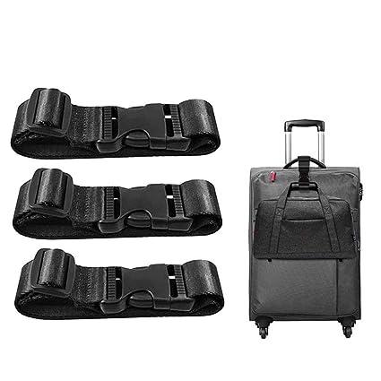 c1297c77f4fb Amazon.com: LARRY SHELL 3 PCS Add a Bag Luggage Strap Adjustable ...