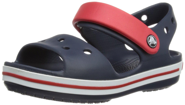 Crocs Kids' Crocband Sandal, Navy/Red, 11 M US Little Kid