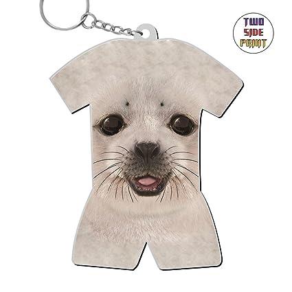 7127c30b674e Amazon.com: Custom Keychain Big Face Baby Seal Keyring World Cup Polo Shirt  Logo Key Ring Key Fob Alloy Nice Gift: Office Products
