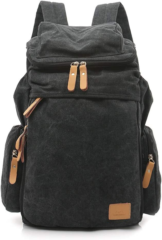 "LHQ-Camera Bag Durable Unisex Retro Canvas Backpack Rucksack School College Shoulder Canvas Handbag 14/""Laptop Daypack Tote Bag Camera Bag Color : Blue, Size : S"