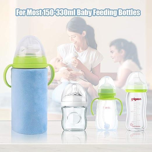 Hemoton USB Babyflaschenw/ärmer Babyflaschenh/ülsen Tragbares Auto Reise Milchflaschenw/ärmer