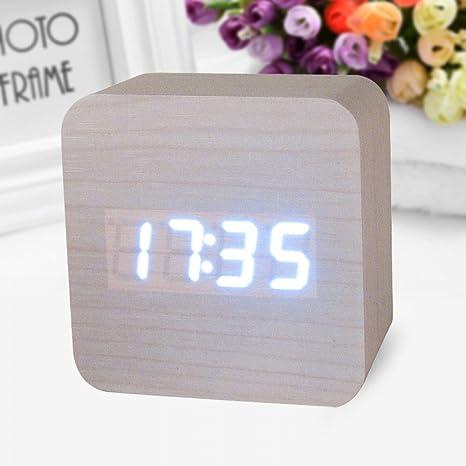 SMAERTHYB Despertador Digital Reloj De Escritorio Relojes De Mesa Decorativos Control De Detección Detección De Alarmas