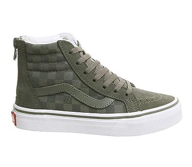 30a73e3446bd77 Vans Sk8 Hi Zip Shoes EUR 28 Dusty Olive  Amazon.de  Schuhe ...