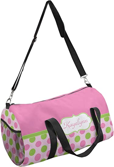Personalized Pink /& Green Chevron Messenger Bag