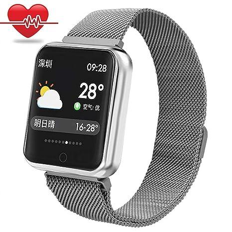 Pulsera de Actividad,Miya Bluetooth Smartwatch Impermeable Reloj Inteligente Mujer Hombre con Monitor de Sueño, Podómetros, Cronómetros,Notificación ...