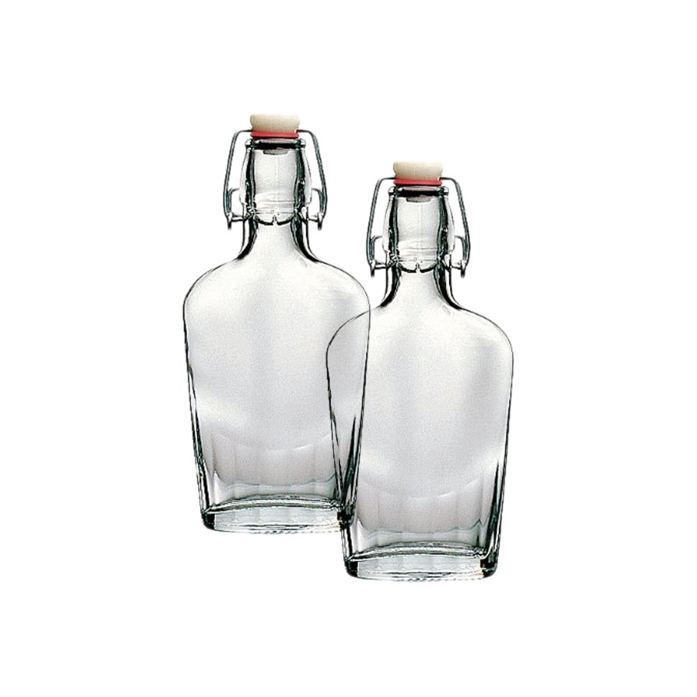 Bormioli Rocco Fiaschetta Glass 8.5 Ounce Pocket Flask, Set of 2 SYNCHKG070149