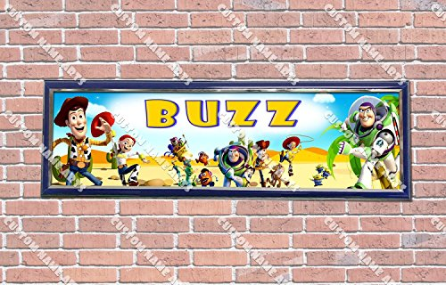 (Personalized Customized Toy Story Poster With Frame, With Your Name On It, Party Door Poster, Room Art Decoration, Wall Decor)