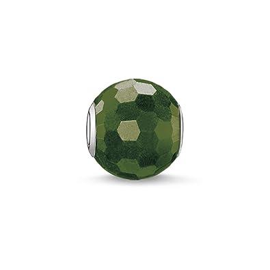 Thomas Sabo Women-Bead Karma Beads 925 Sterling Silver aventurine green polished K0049-010-6 k7wgyrul6