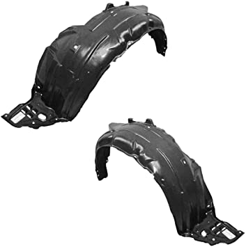 Parts N Go 2009-2011 Acura TL Front Fender Liner Driver /& Passenger Side Pair Splash Guard AC1248125 74151TK4A00