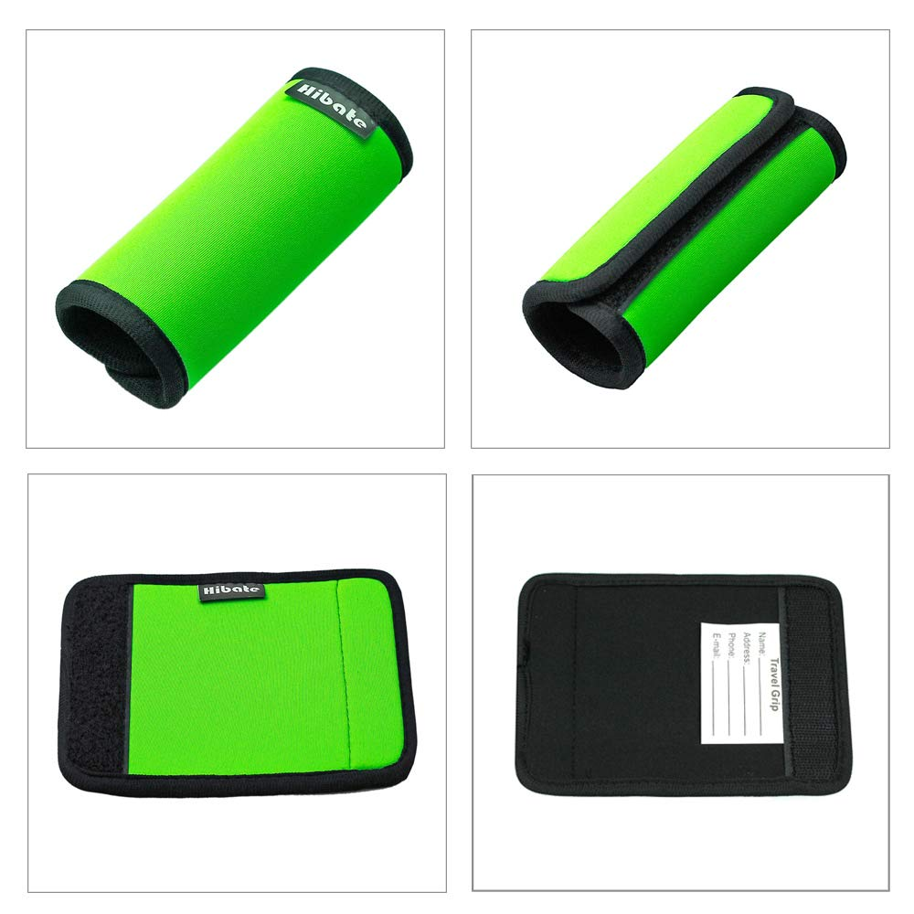 Hibate (2_Green) Luggage Straps Belts and (1_Green) Neoprene Suitcase Handle Wrap Grip Tags by Hibate (Image #3)