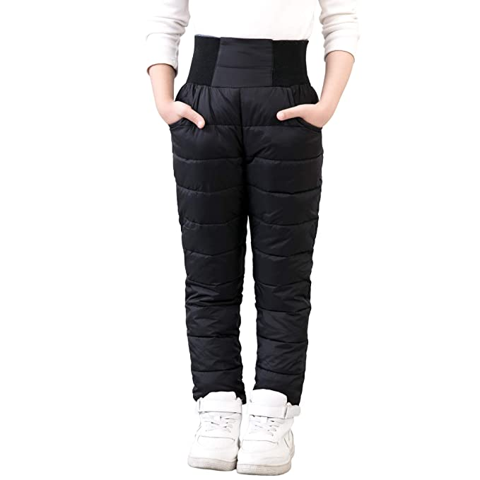 2c8290d5fd UGREVZ Girls Boys Snow Pants 2-10 Years Old Thick Winter Warm Pants Girl  Activewear