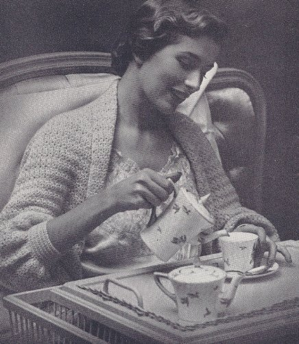 Vintage Crochet PATTERN to make - Shrug Bed Jacket Sweater Lacy Shawl. NOT a finished item. This is a pattern and/or instructions to make the item only. ()