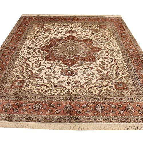 Camel Carpet 8'x10′ Handmade Medallion Design Persian Carpet Art Silk Rug