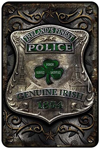 Police Department PD Ireland's Finest Police Metal Parking Sign