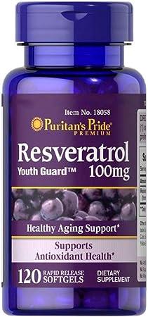 Resveratrol 100mg (120 SGELS) Puritans Pride