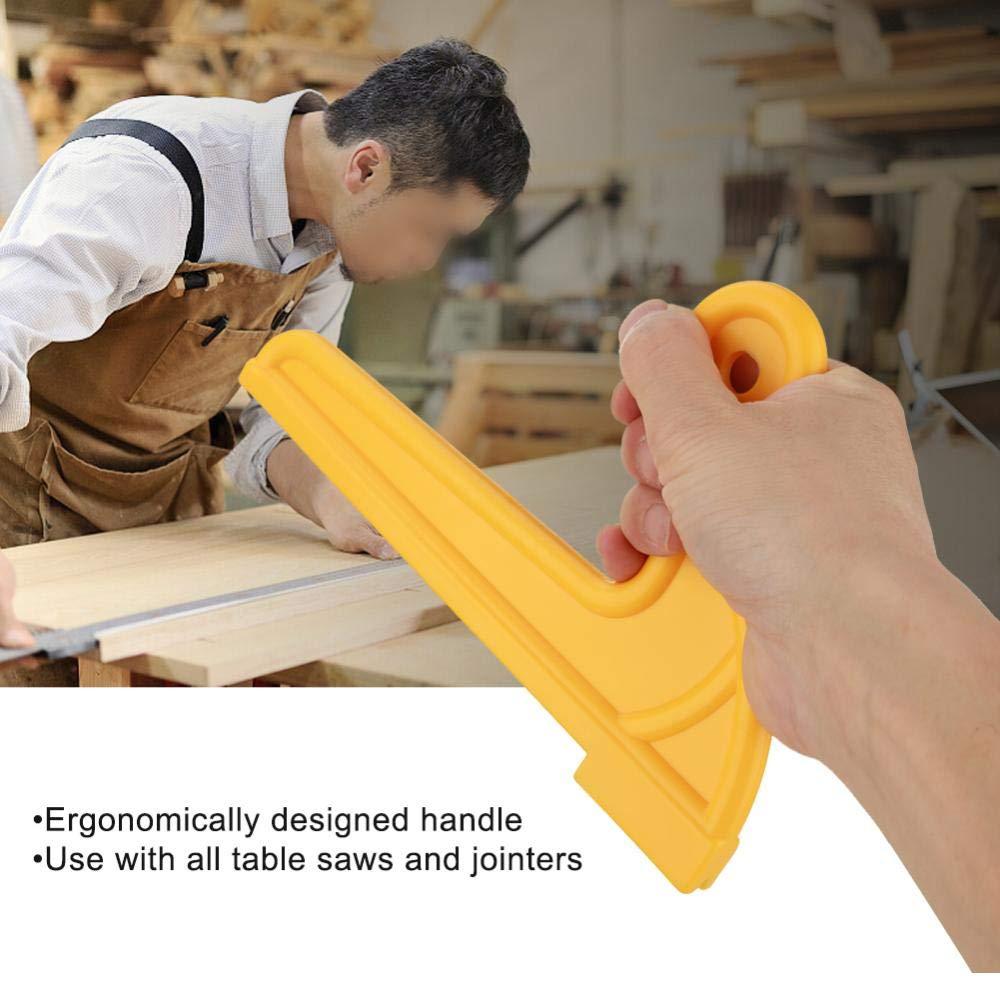 table de toupie outil de s/écurit/é pour scie circulaire de table et banc scie /à bois b/âtons de s/écurit/é pour table /à bois 2pcs jaunes poussoirs