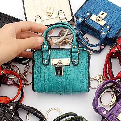 Ya Jin Frauen Mädchen Mini Niedlichen Leder Geldbörse Tasche Schlüsselbeutel Aufbewahrungstasche (Krokodilmuster) Black