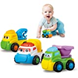 Vehicles Toys, Push and Go Car Vehicles Cartoon Toy Cars Set for Kids/children gift, 4 Pcs/Set