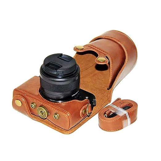 Funda de Piel sint/ética para c/ámara Canon EOS M10 M100 15-45 mm Qiulip