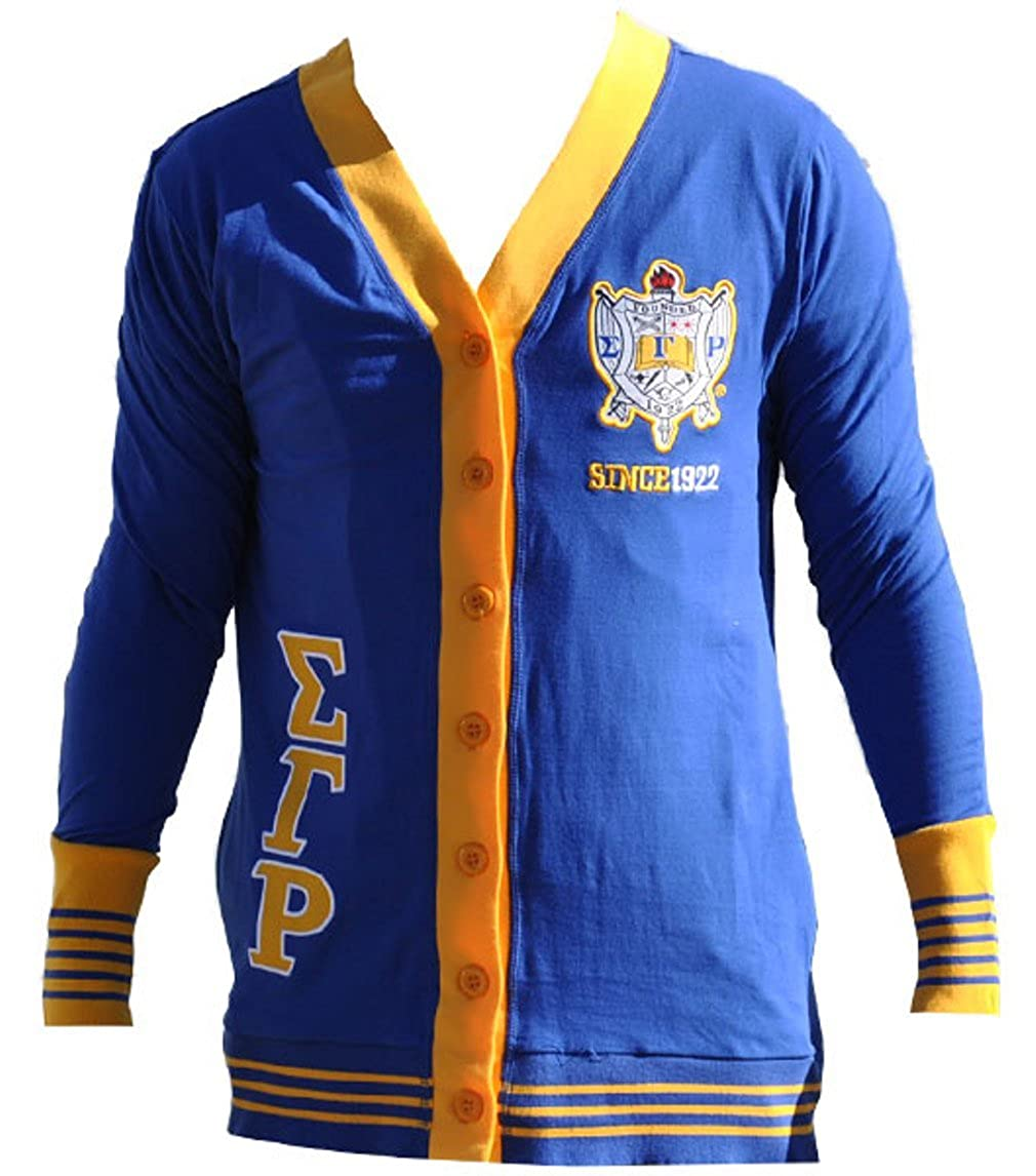 Sigma Gamma Rho Sorority Womens Lightweight Cardigan Royal Blue