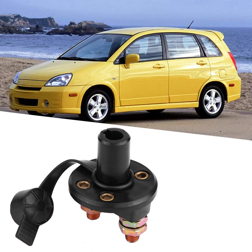 Cuque Battery Disconnect Switch 12V Car Battery Isolator Switch Universal Automotive Battery Isolator Kill Switch Plastic Waterproof Power Cut Off Switch for Auto Offroad Vehicle Truck Motorcycle Boat
