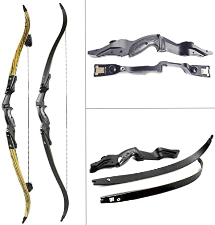 30-50lbs 60 Inch Alloy Recurve Bow Archery Takedown Long Bow For Outdoor Hunting