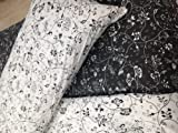 Ikea ALPNARV 3pc King Duvet Covers 100-percent Cotton Ikea ALPNARV Black, White