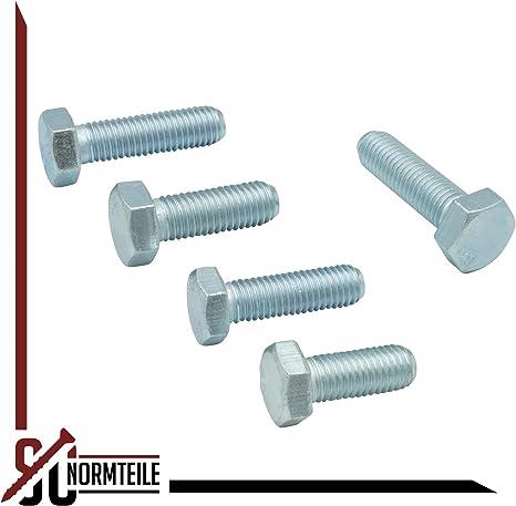 verzinkt 40 St/ück DIN 933 // ISO 4017 Sechskantschrauben mit Vollgewinde 8.8 Stahl galv M3x5 mm SC933