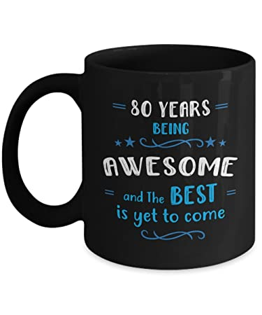 Amazon Happy 80th Birthday Mug