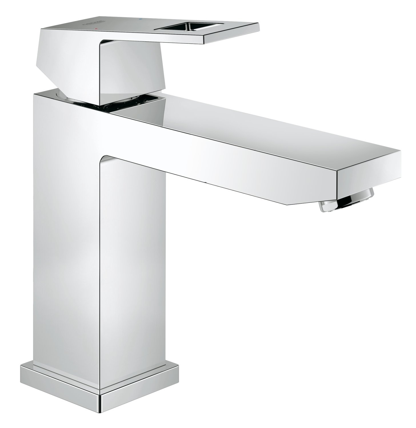GROHE 23445000 Eurocube Bathroom Tap (Pop-Up Waste, Medium High Spout and Ecojoy)