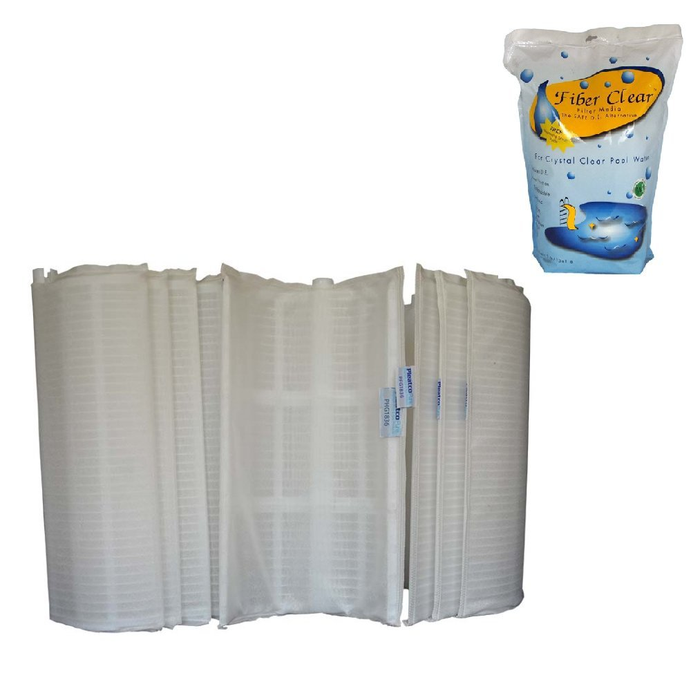 Pleatco Filter Grid Set - 24 Sq. Ft. Bundle with Fiber Clear DE Alternative 9 Oz.