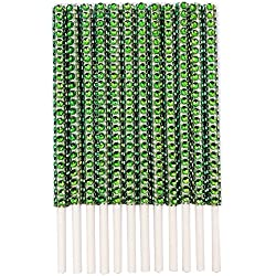 Rhinestone Bling Paper Sticks for Lollipop Cake Pop Apple Candy Buffet Treat Party Favor 6 inch (Apple Green, 24)