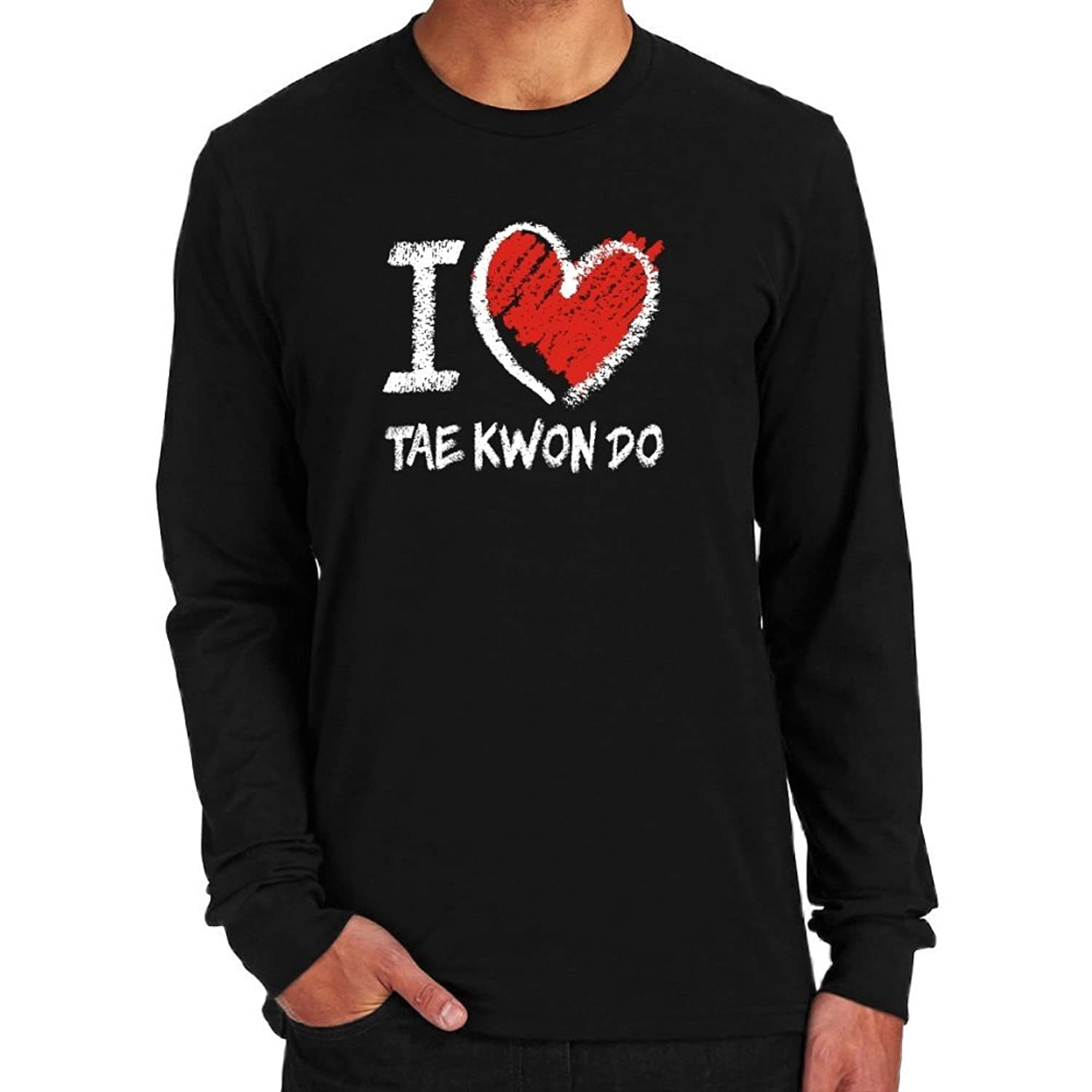 I love Tae Kwon Do chalk style Long Sleeve T-Shirt