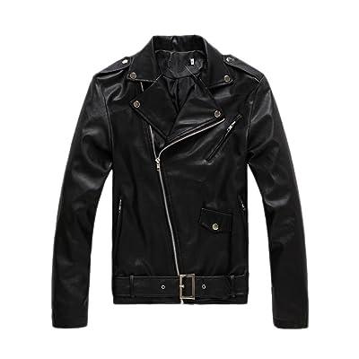 Fashion maker(F&M)レザージャケット メンズ PUレザー ジャケット ライダースジャケット 長袖ジャケット フェイクレザー アウター コート 大きサイズ シンプル