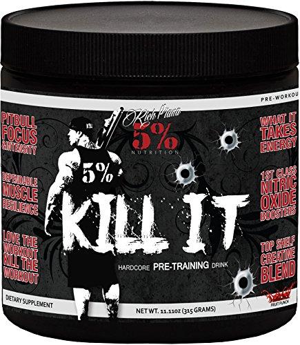 Rich Piana 5% Nutrition KILL IT Pre Workout (Fruit Punch) 11.11oz (315 Grams) 30 Servings