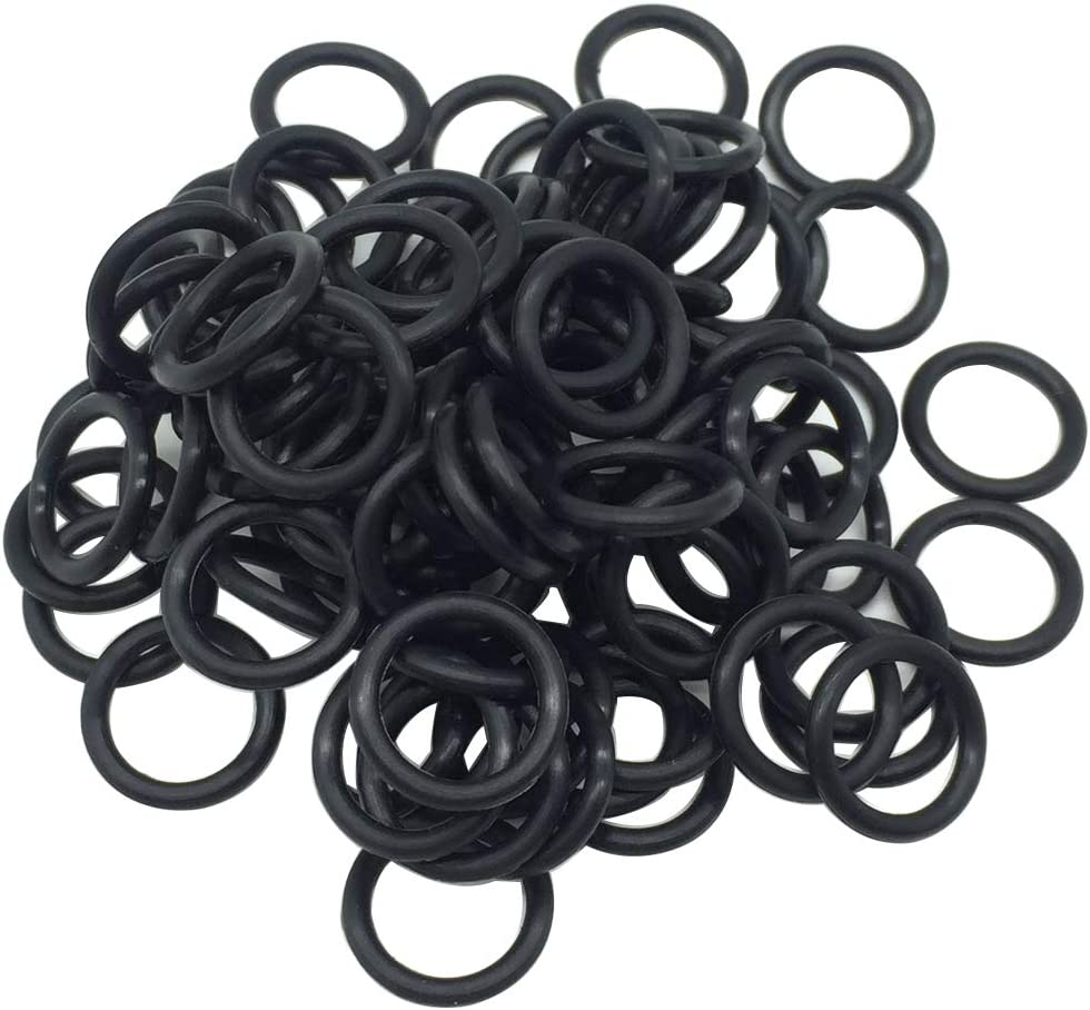 Black Oil Drain Plug O-Ring #11105 Replacements for Harley Davidson 100 Pack