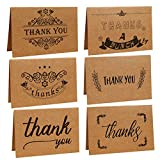Ai-life 18Pcs Retro Vintage Craft Paper Assorted Design Blank Greeting Cards Thank You Note Cards with Envelopes, Folding Gift Cards for Wedding, Graduation, Bridal and Baby Shower, Blessing, Birthday, Valentine and Christmas, 10x15cm