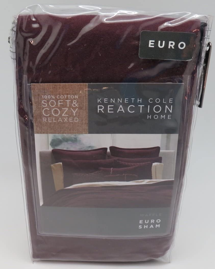 Kenneth Cole Reaction Home Euro Sham from the Waffle Collection Cranberry