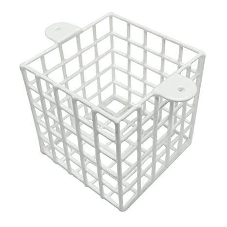 White Steel Mesh Cage 5 inch Square Protect CCTV Camera