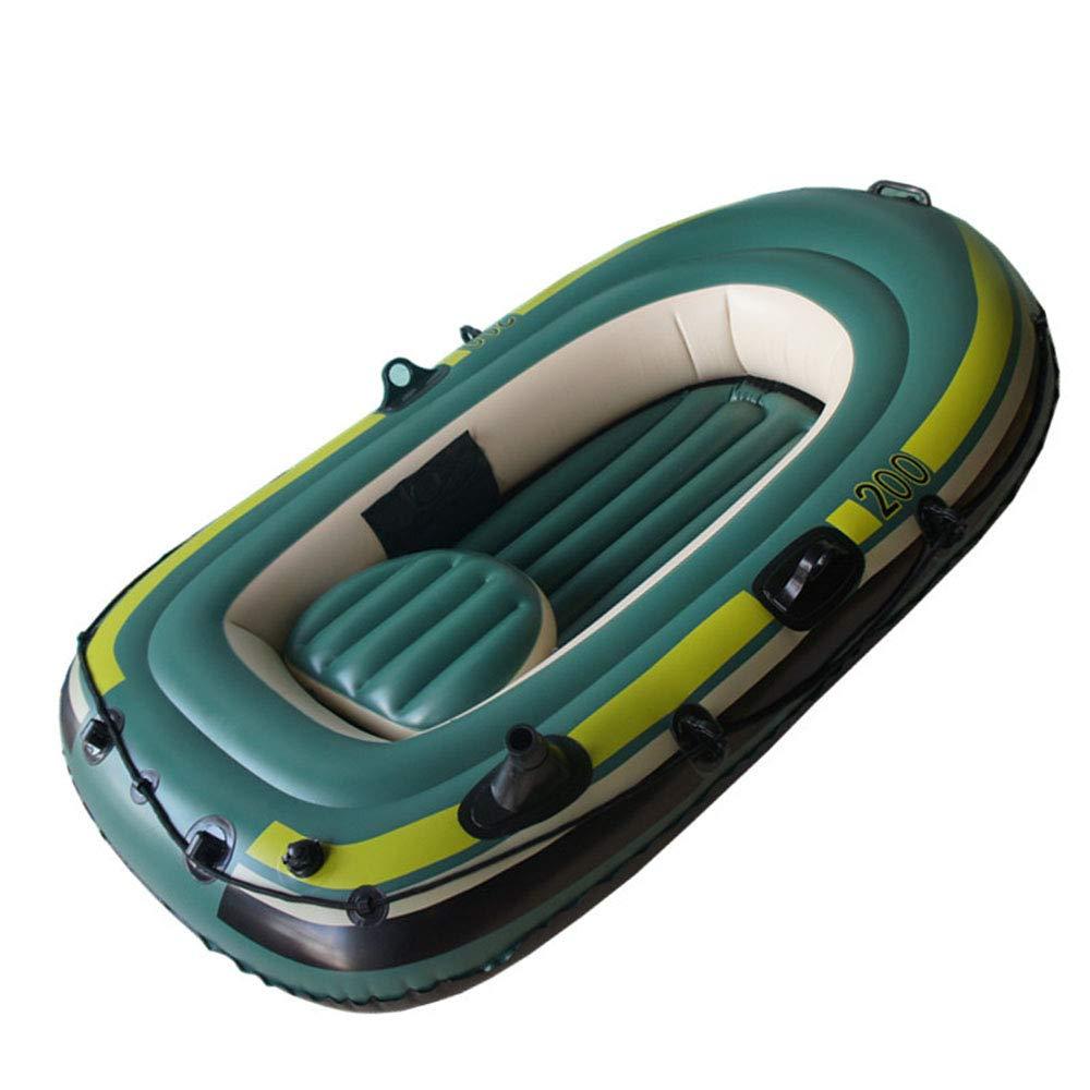 カヤックインフレータブルボート肥厚耐摩耗漁船高速旅行カヌー、2人   B07R6LYGZJ