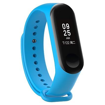 XIHAMA Correa para Xiaomi Mi Band 4, Mi Band 3 Pulsera Recambio de Silicona Suave Impermeable Bracelet Compatible con Smartwatch Xiaomi Mi Band 3 / Mi ...