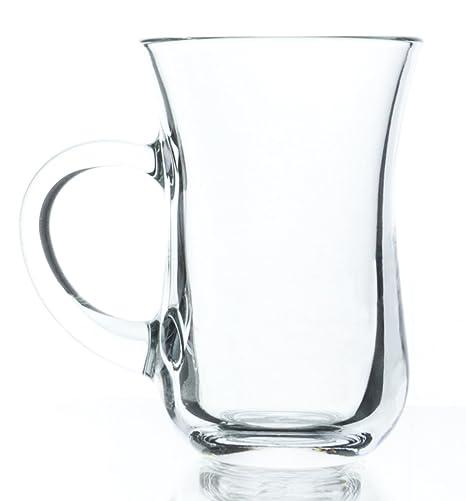 e37d95ac9d4 Original Turkish Tea Glasses with Handles, 4 3/4 Ounce - Set of 6, Small